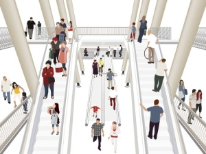 9888699 - people in shopping mall